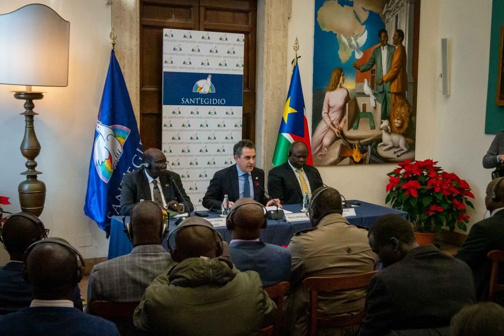 South Sudan: All political parties sign a peace agreement in Sant'Egidio