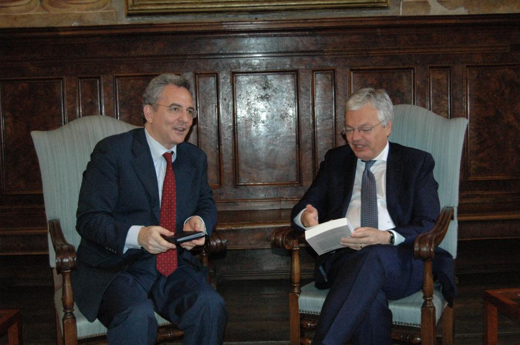 The Belgian Foreign Minister and Deputy Premier Didier Reynders, visit to Sant'Egidio