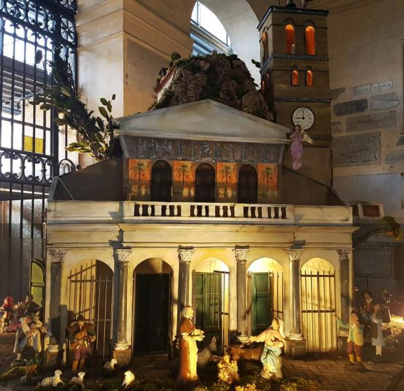 Visit to the nativity scene of Santa Maria in Trastevere: around Jesus who is born, a people of the poor finds hope