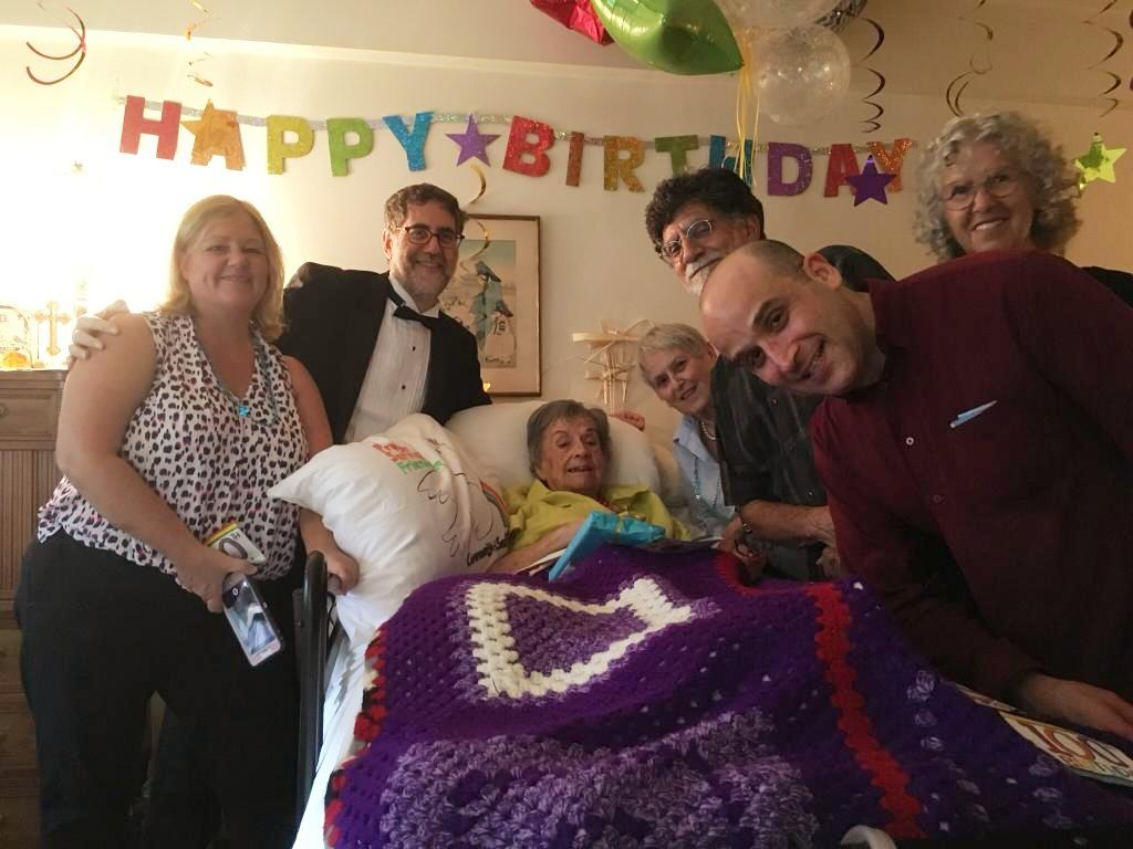Margie, 100 years old and many friends!