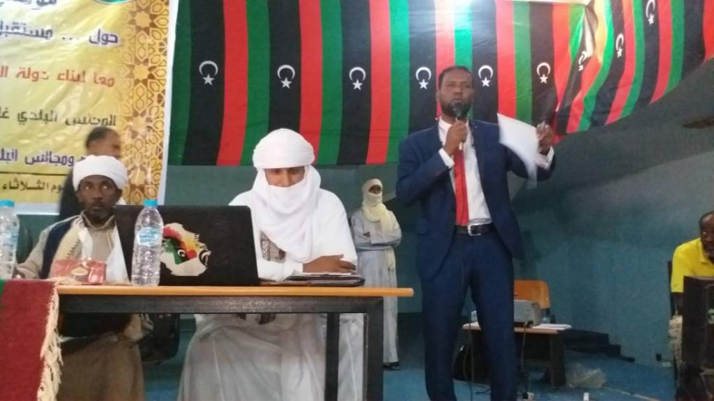 Discussing reconciliation and development in Southern Libya