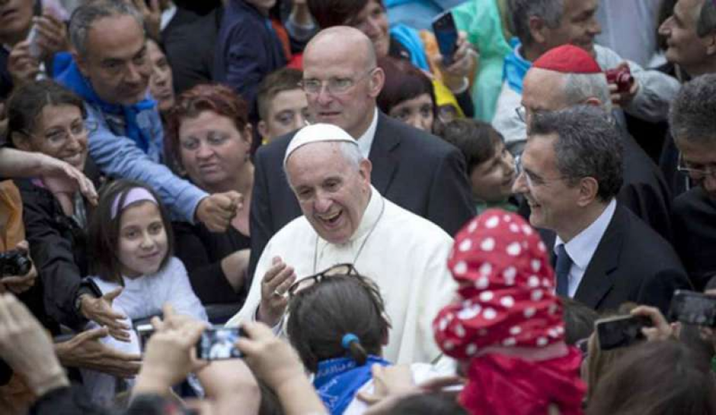 Pope Francis' visit to the Community of Sant'Egidio for its 50th anniversary - Sunday 11th March, Trastevere