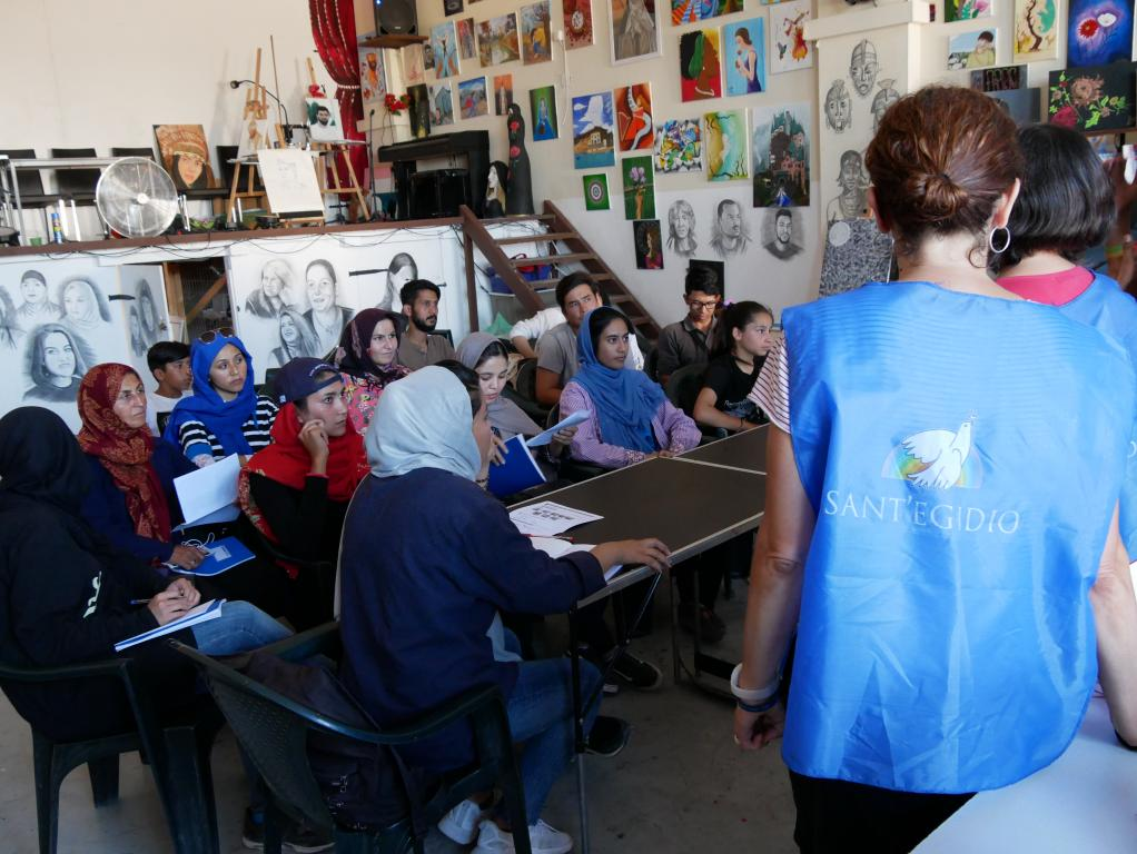 School of Peace and English language courses for Lesbos refugees. The words of #santegidiosummer volunteers