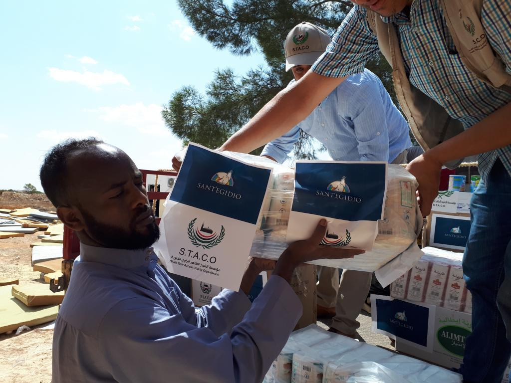 Sant'Egidio provides urgent humanitarian aid in the detention center for migrants in Zintan, Libya